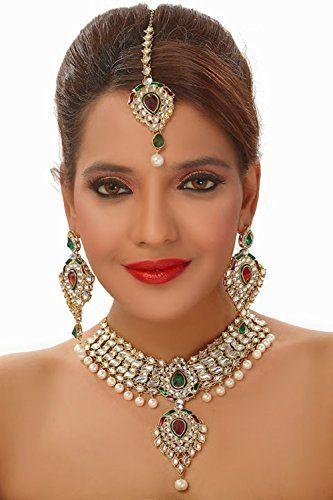 Elegant Red & Green Stone Bollywood Indian Wedding Wear W... https://www.amazon.com/dp/B01N4QYDGB/ref=cm_sw_r_pi_dp_x_WbEHybE2Y940H