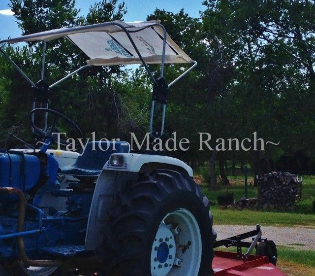 When Our Tractor Canopy Material Tore We Made Another Using What We Had! #TaylorMadeHomestead