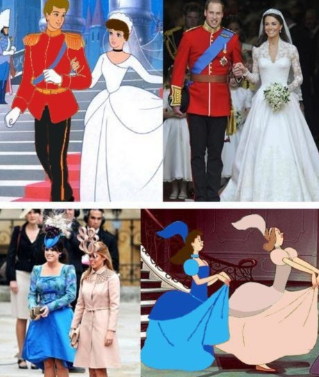 Coincidence? I think not. My theory is that the entire royal wedding was based on Cinderella; the perfect fairy-tale