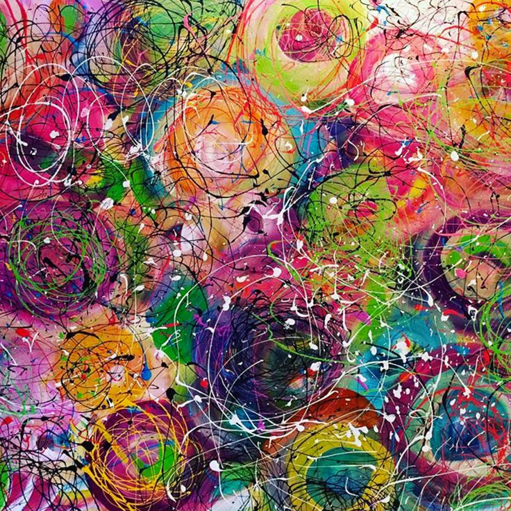 Circles of Life 36 x 48 Abstract Acrylic on Canvas