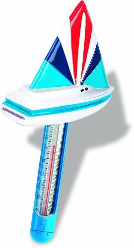 Hydro Tools 9235 Soft Top Boat Floating Pool Thermometer and Cord