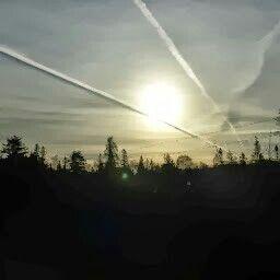 Snake lake morning sky