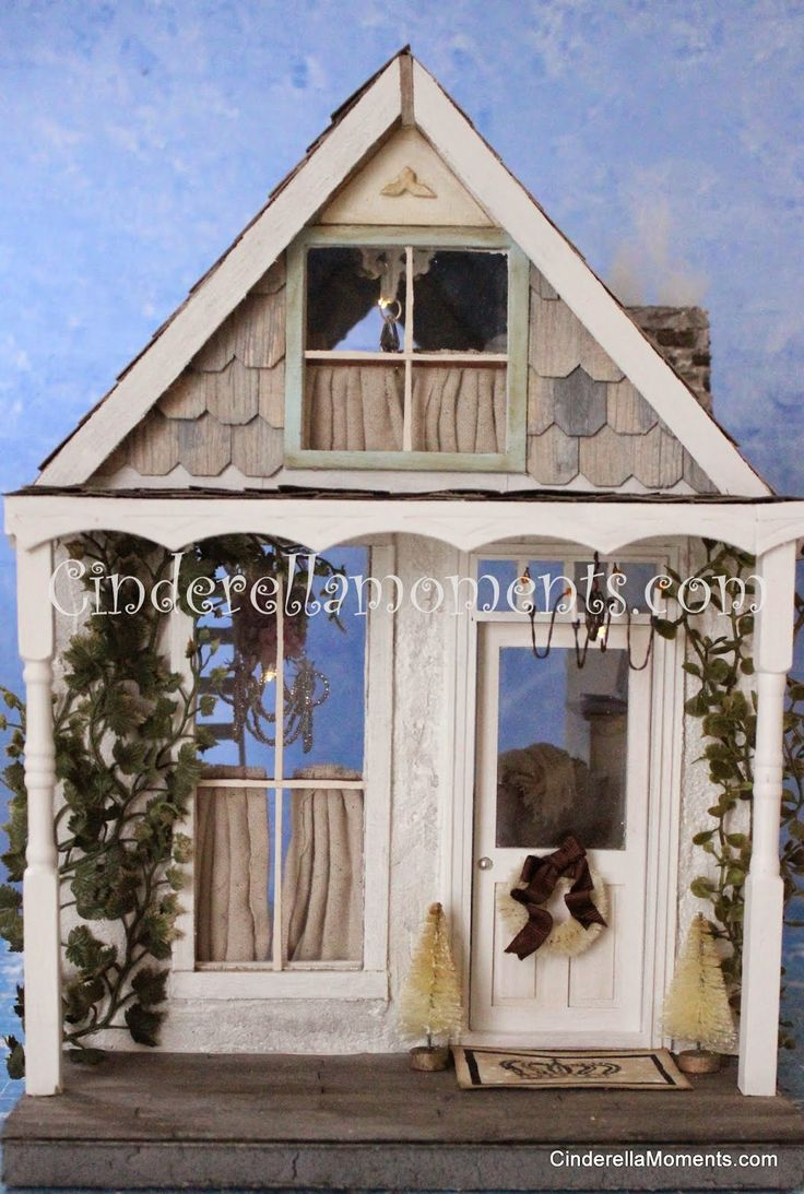 diy watch snow cottages house dollhouse youtube cottage video houses garden with miniature
