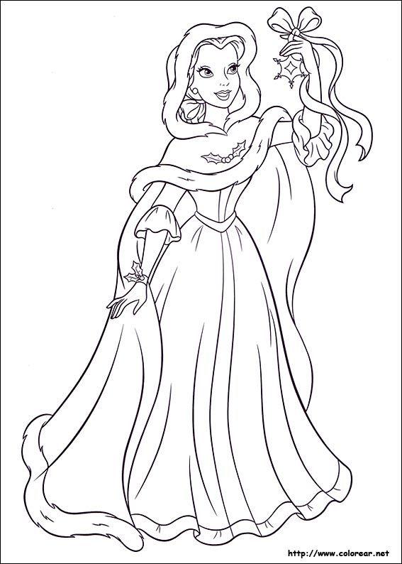 De Las Princesas Baby En Navidad Para Colorear Imagui Dibujos Para Colorear Paisajes Frozen Para Colorear Dibujos Para Colorear Disney