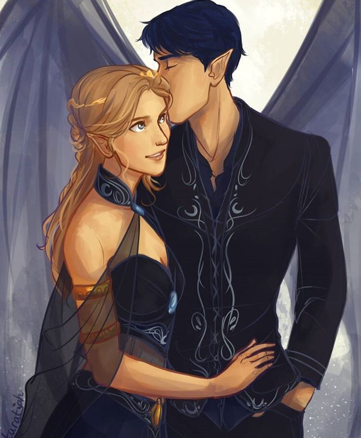 Feyre and Rhysand by taratjah on tumblr