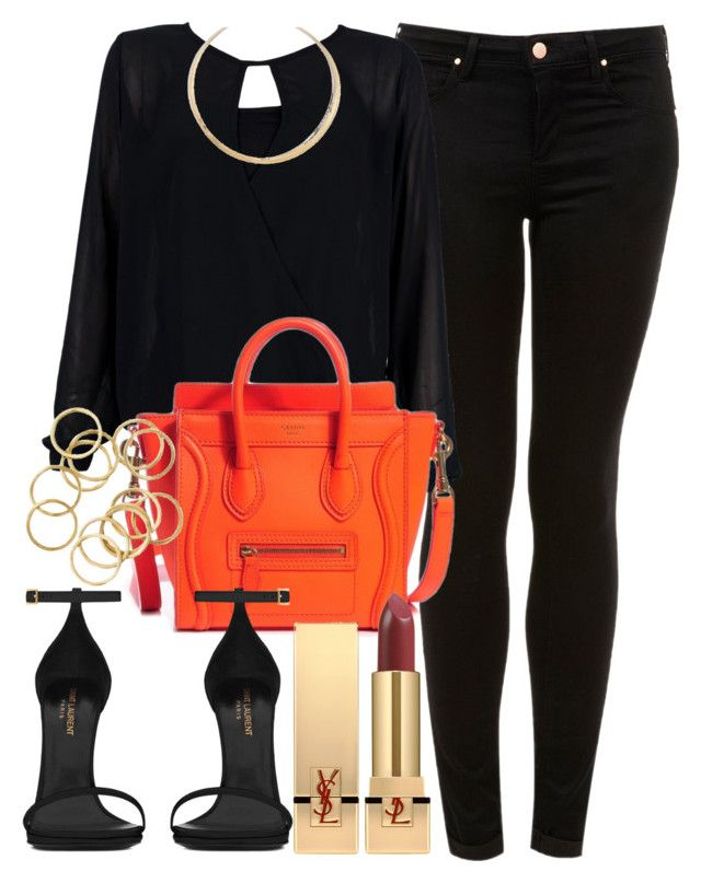 """""""Style #8910"""" by vany-alvarado ❤ liked on Polyvore featuring Topshop, Yves Saint Laurent and Madewell"""