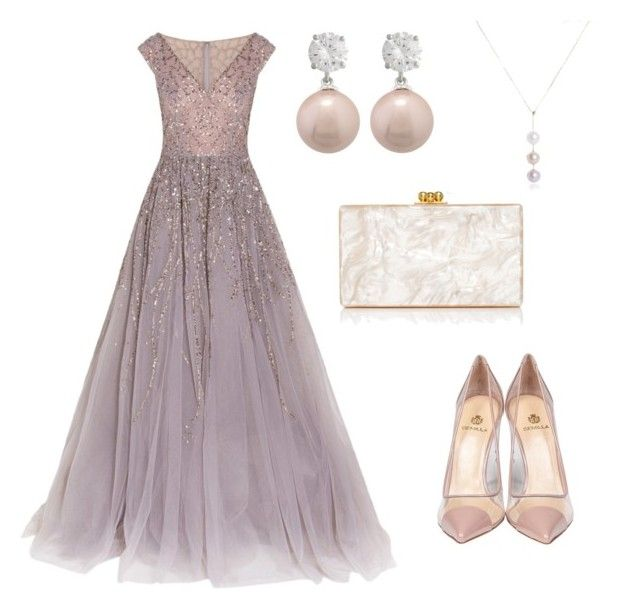 Classy glamour style by shevira on Polyvore featuring polyvore, fashion, style, Georges Hobeika, Semilla, Edie Parker and clothing