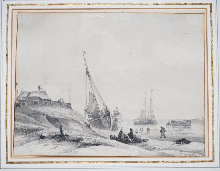Old drawing/Scheveningen Het Schuitengat
