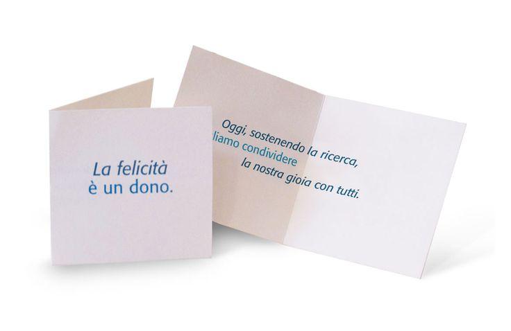 """""""La felicità è un dono. Oggi, sostenendo la ricerca, vogliamo condividere la nostra gioia con tutti."""" - bomboniere solidali AIRC Associazione Italiana per la Ricerca sul Cancro: ogni occasione è buona per sostenere la ricerca!"""
