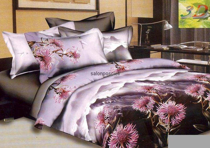 Pościel 3d, kolorystyka: fiolet, czarny