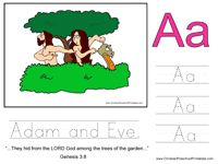 adam eve handwriting worksheet - Starfall Printable Books