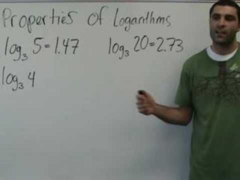 This lesson shows the main properties of logarithms as we tackle a few problems using them. YAY MATH, boo!