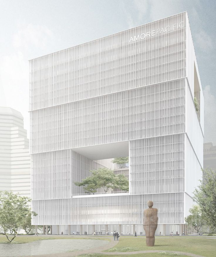 david chipperfield's amorepacific HQ breaks ground in korea