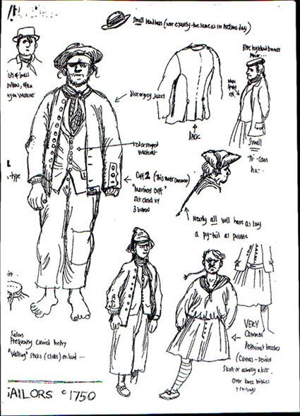 18th century sailor clothing