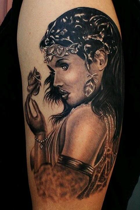 Egyptian queen tattoo
