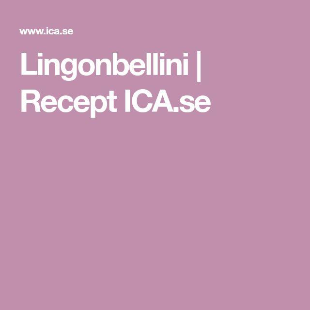 Lingonbellini   Recept ICA.se