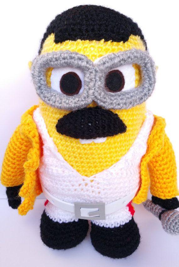 Crochet Minion Freddie Mercury