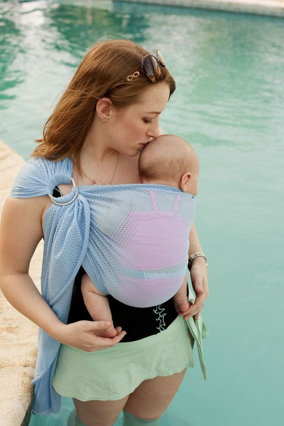 Petite Beachfront Baby Water Ring Sling- wear baby in the shower, in the pool, at the water park and at the beach! 10 colors