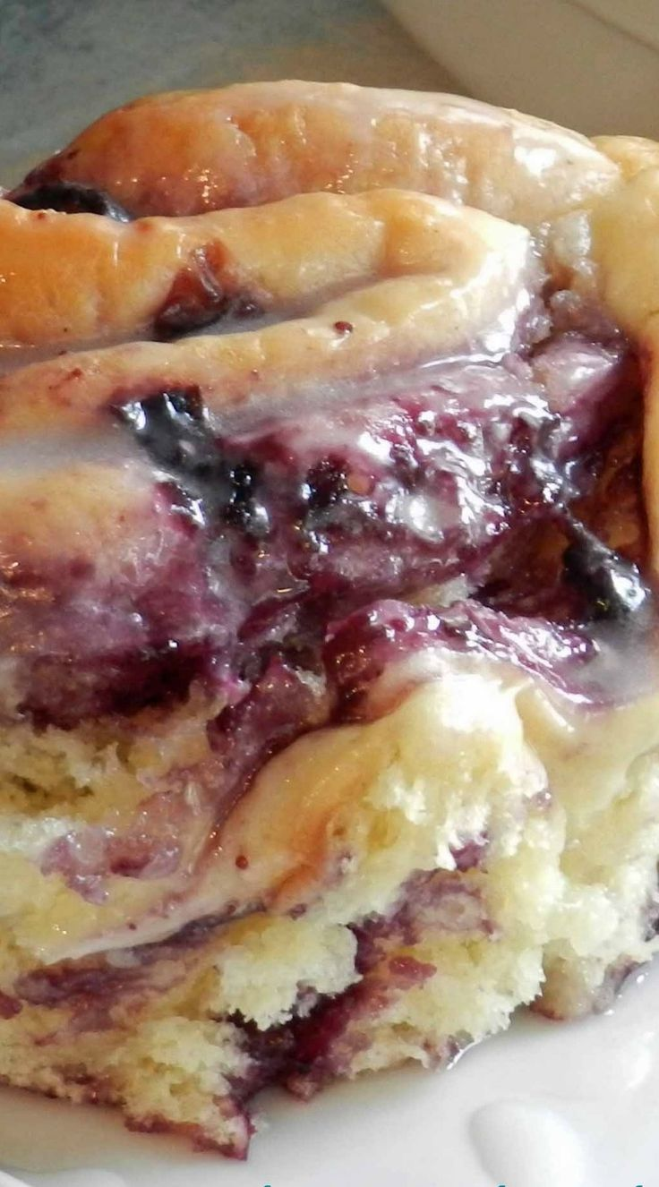 Blueberry Sweet Rolls with Lemon Glaze