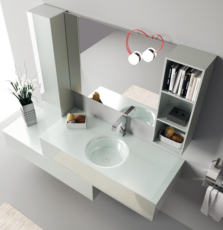 Font Collection   The #bathroom according to Scavolini   #Washbasin  