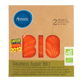 Saumon fumé bio Armoric, emballage eco-conçu