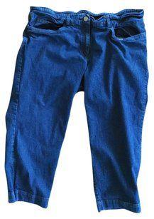 Eileen Fisher Vintage Eillen Shorts Denim Shorts-Dark Rinse