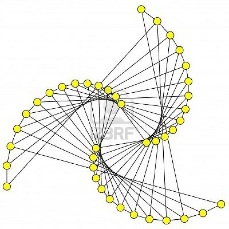 String art - twisted triangle shape