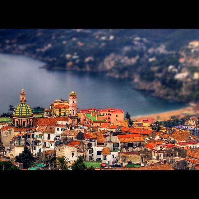 Vietri sul Mare, Italy (Tilt-shift photoshopped) via Flicker