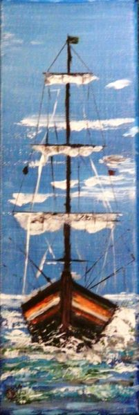 TABLEAU PEINTURE Thonier Marine Acrylique  - Thonier