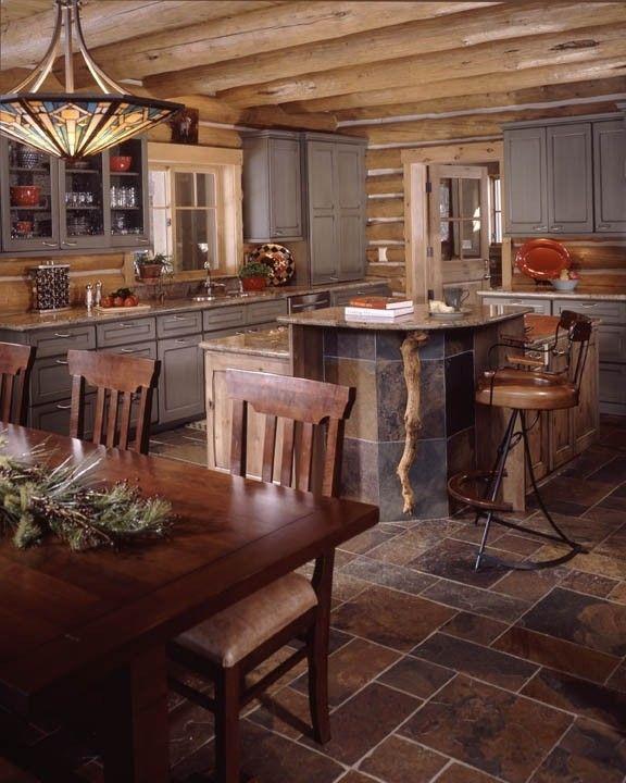 33 Modern Style Cozy Wooden Kitchen Design Ideas: 1851 Best LOG HOME LIVING Images On Pinterest