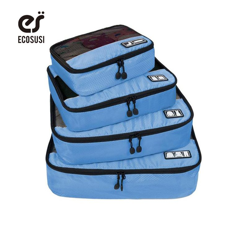"ECOSUSI Breathable Travel Bag 4 Set Packing Cubes Luggage Packing Organizers with Shoe Bag Fit 23"" Carry on Suitcase //Price: $20.42 & FREE Shipping //     #hashtag2"