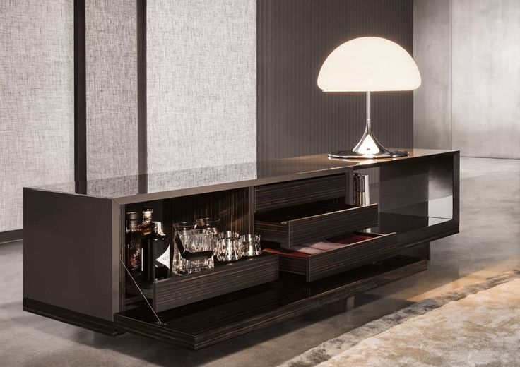 contemporary sideboard by rodolfo dordoni lang minotti. Black Bedroom Furniture Sets. Home Design Ideas