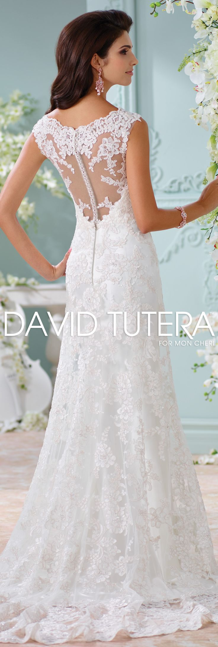 The david tutera for mon cheri spring 2016 wedding gown for David tutera beach wedding dresses