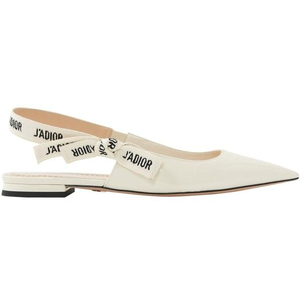 1455c825d65c9 Pre-owned Dior Patent Leather Ballet Flats ($720) ❤ liked on ...
