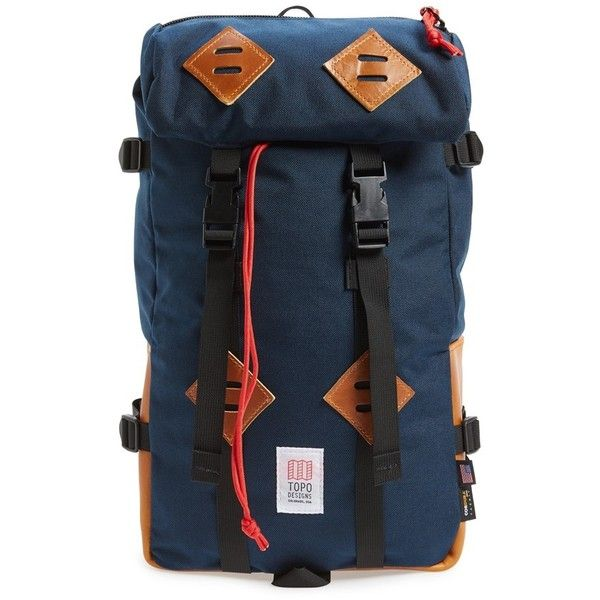 Men's Topo Designs 'Klettersack' Backpack (600 BRL) ❤ liked on Polyvore featuring men's fashion, men's bags, men's backpacks, mens backpack and mens one strap backpack