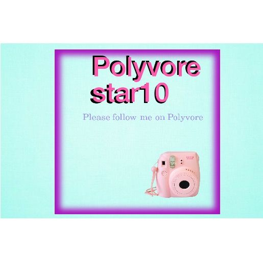 Please follow me on Polyvore