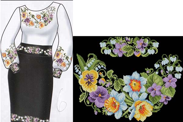 Сорочки - Вышиванки - схемы вышивки крестом скачать .xsd   6