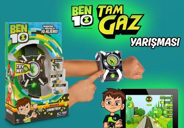 Büyük Ödüllü Ben 10 Tam Gaz Yarışması, Şimdi Kahramanlık Zamanı. Yarışmaya katılan 5 çocuk, yepyeni Ben 10 Delüks Omnitrix Saati kazanacak!