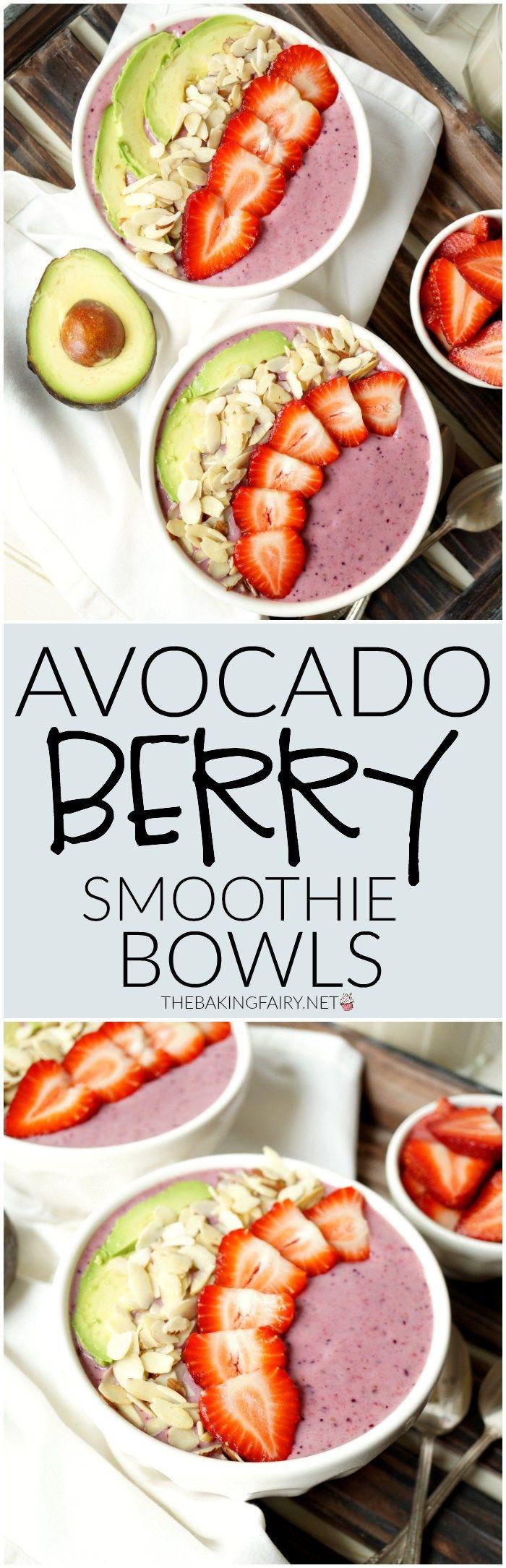 avocado berry smoothie bowl | The Baking Fairy