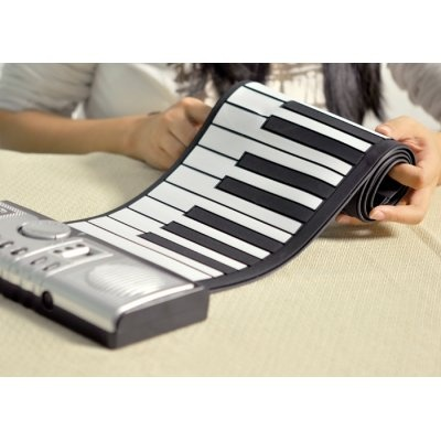 Compact with many added functions, you can take this foldable keyboard piano with you to play anywhere! The keys are designed using silicon rubber, which allows you to neatly fold it away and store in your cupboard without damage.