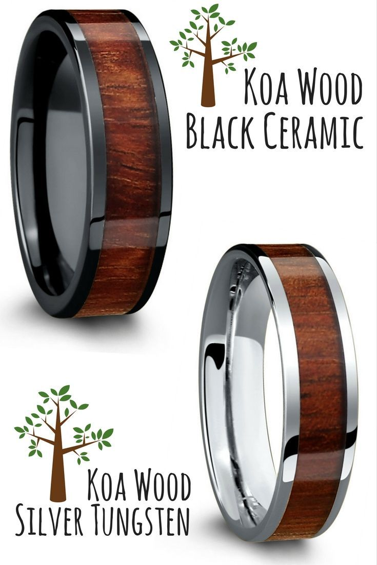 Mens Wooden Wedding Rings These Make Such Unique Made With Real Koa Wood: Wood Wedding Band Made At Websimilar.org