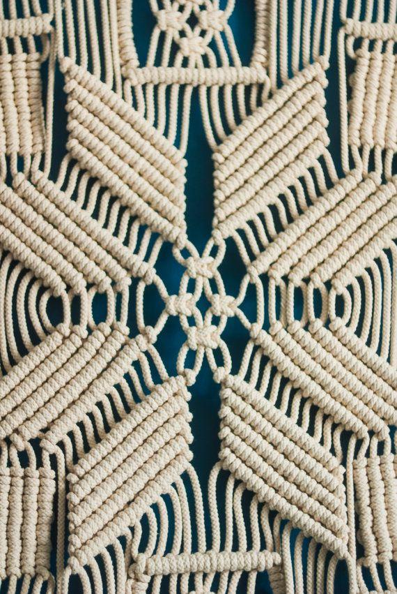 Colgante Geometría sagrada cortina de por TheWovenDreamFactory