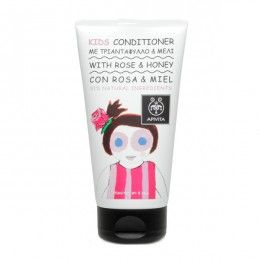 KIDS Conditioner with honey & rose. #Treatment #Moisturization #EasyCombing #Softness #Radiance Gentle conditioner with rose and honey, calendula water, geranium essential oil suitable for children and vitamin E that treats, moisturizes and untangles hair by leaving it shiny, soft and easy to comb. Read more at www.apivita.com