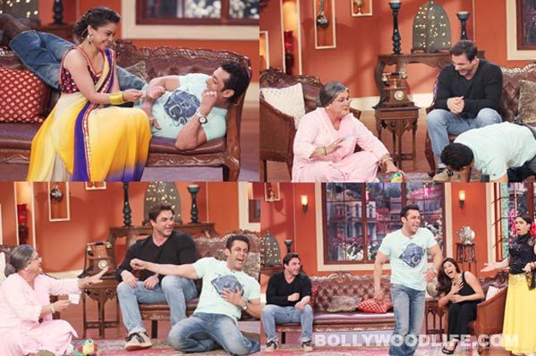 #SalmanKhan recently shot an episode of Comedy Nights with Kapil. He was accompanied by his debutant co-star Daisy and director cum brother Sohil Khan.