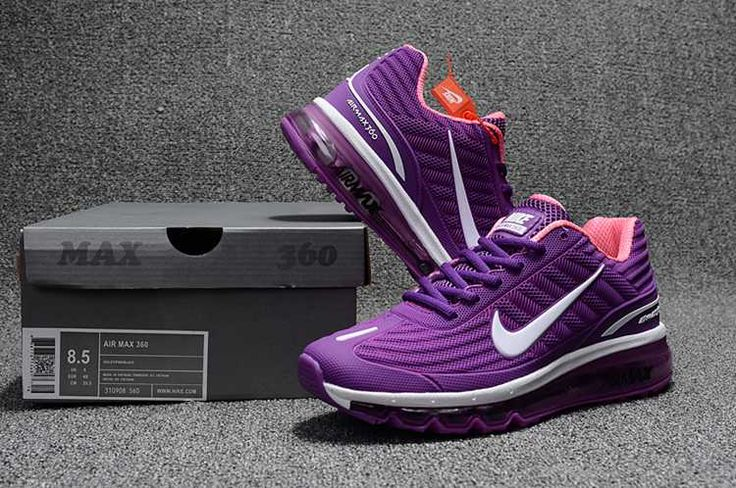 Nike Air Max 360 Running Women Shoes Purple White