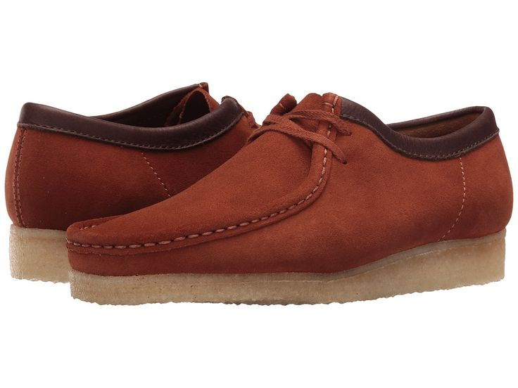 CLARKS CLARKS - WALLABEE (DARK TAN SUEDE) MEN'S LACE UP CASUAL SHOES. #clarks #shoes #