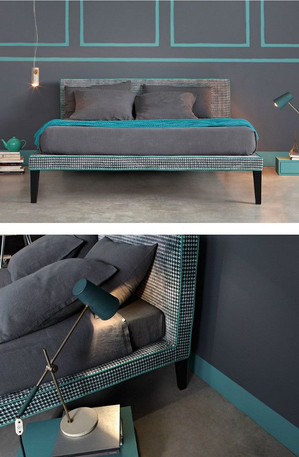 Double #bed with removable cover COCÒ by Letti&Co. | #design Paola Navone
