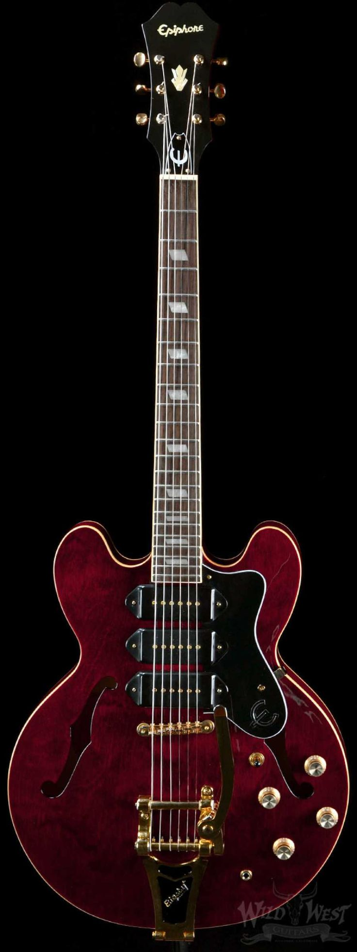 Epiphone Riviera P93 Wine Red with Bigsby - Preowned - Wild West Guitars