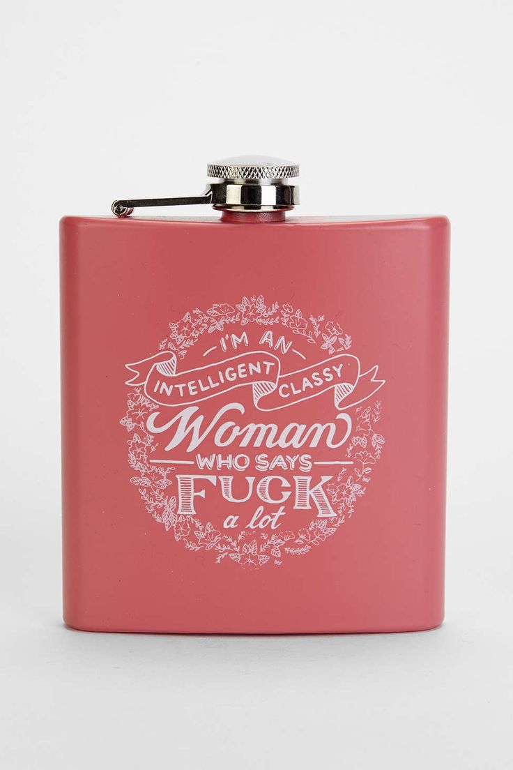 Intelligent Classy Woman Flask - Urban Outfitters