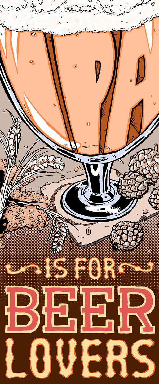 A design to showcase my appreciation for India Pale Ales.